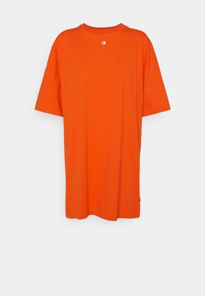 OVERSIZED TEE DRESS - Vestido ligero - bright poppy