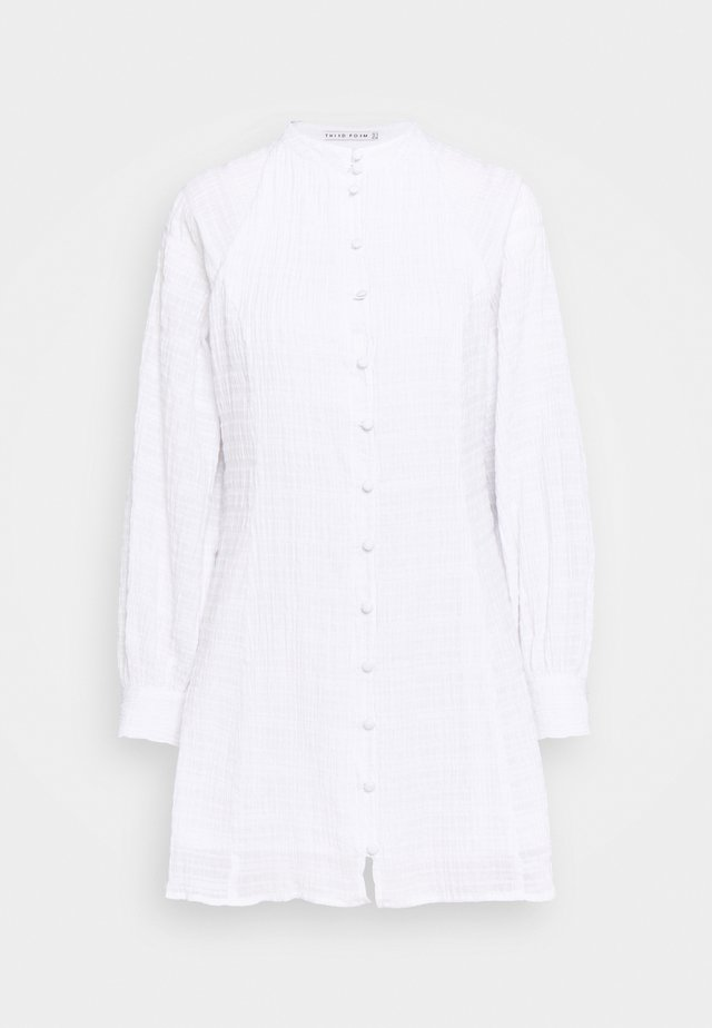 BUTTON UP DRESS - Robe d'été - white