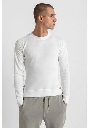 WAFFEL  - Bluzka z długim rękawem - white