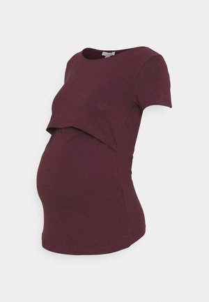 NURSING FUNCTION t-shirt - Jednoduché triko - bordeaux