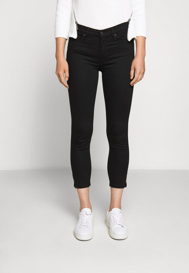 CHARLIE CROPPED - Slim fit jeans - black