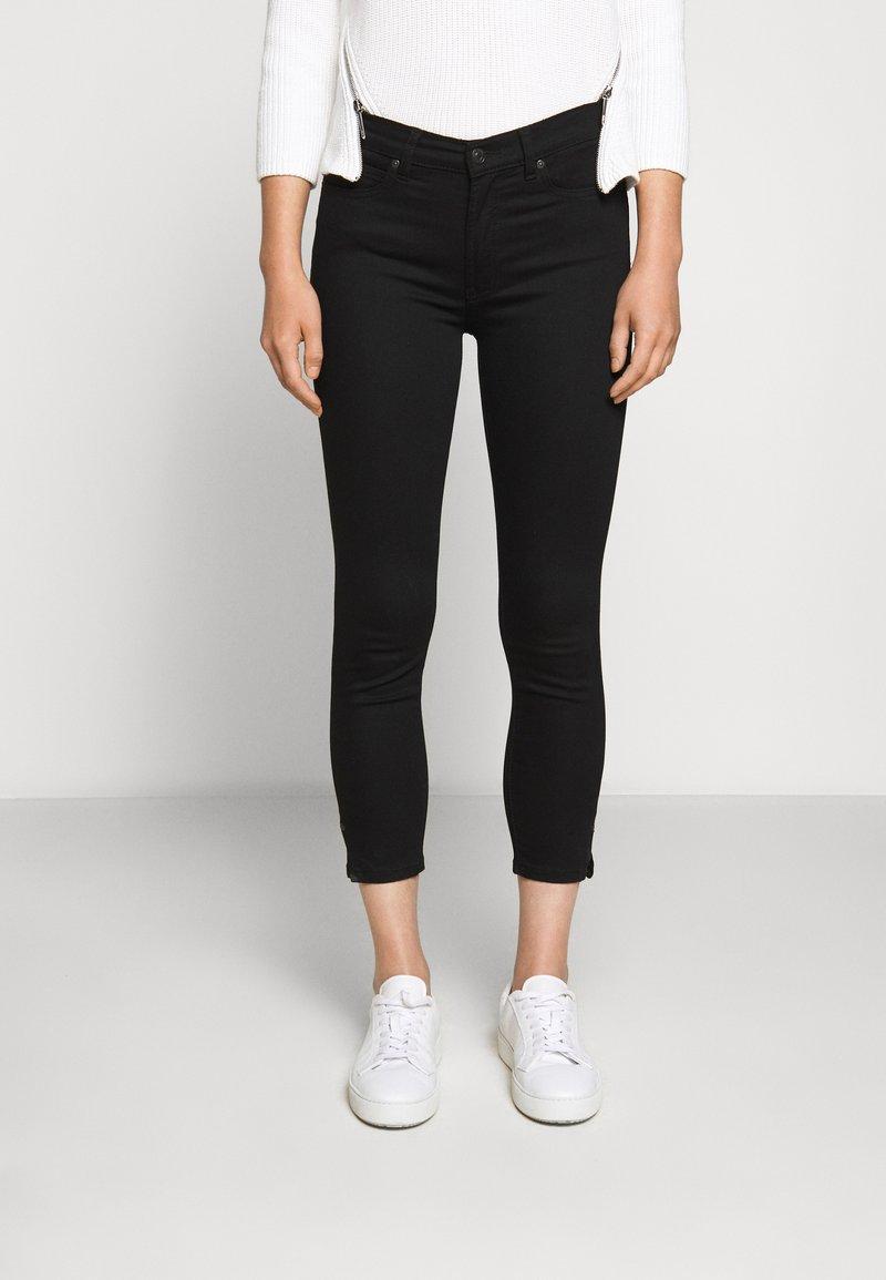HUGO - CHARLIE CROPPED - Slim fit jeans - black
