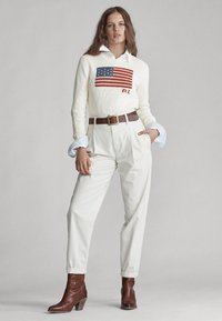 Polo Ralph Lauren - FLAG - Pullover - cream/multi - 1