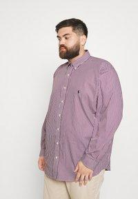 Polo Ralph Lauren Big & Tall - LONG SLEEVE SPORT SHIRT - Shirt - wine/white - 0