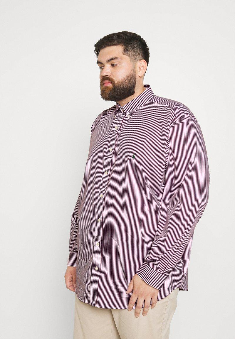 Polo Ralph Lauren Big & Tall - LONG SLEEVE SPORT SHIRT - Shirt - wine/white