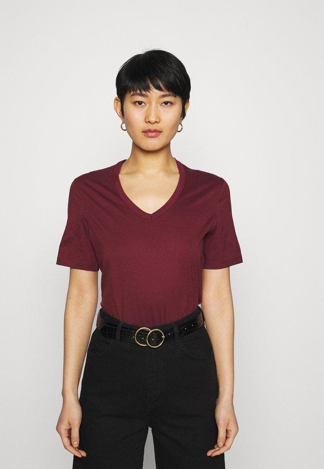 NUDMEG - T-shirt basique - bordeaux