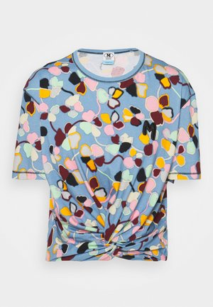 SHORT SLEEVE - T-shirt con stampa - powder blue/candy/blood