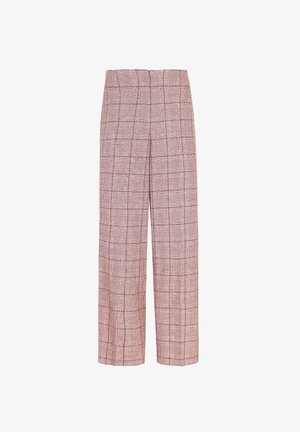 WALES  - Trousers - burgundy check