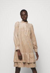 Marc Cain - Shirt dress - brown - 0