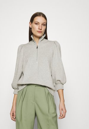 NANKITAGZ ZIPPER  - Sweater - light grey melange