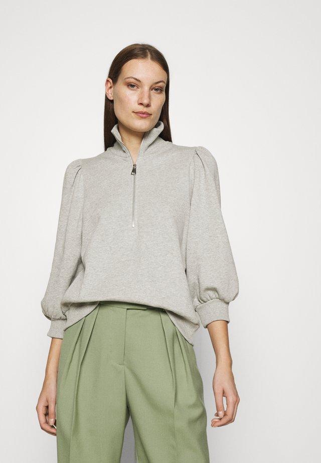 NANKITAGZ ZIPPER  - Sweater - light grey melange