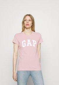 GAP - FRANCHISE TEE 2 PACK - T-shirt z nadrukiem - pink standard - 2