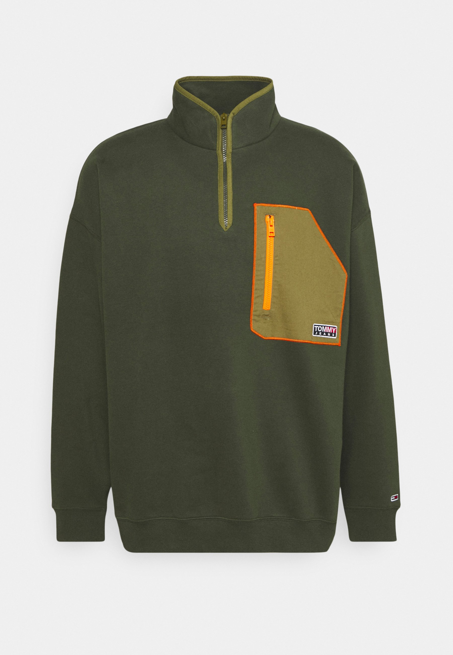 Men CONTRAST POCKET ZIP MOCK - Sweatshirt