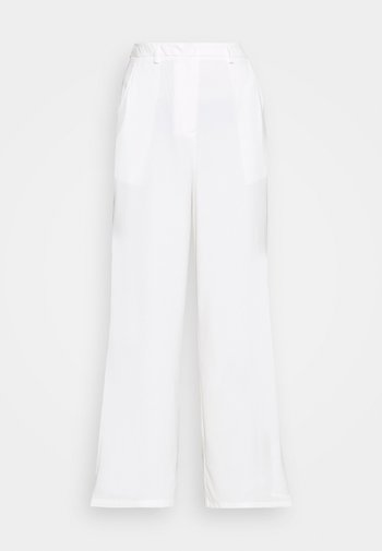 STUDIO WIDE LEG TROUSERS - Spodnie materiałowe - offwhite