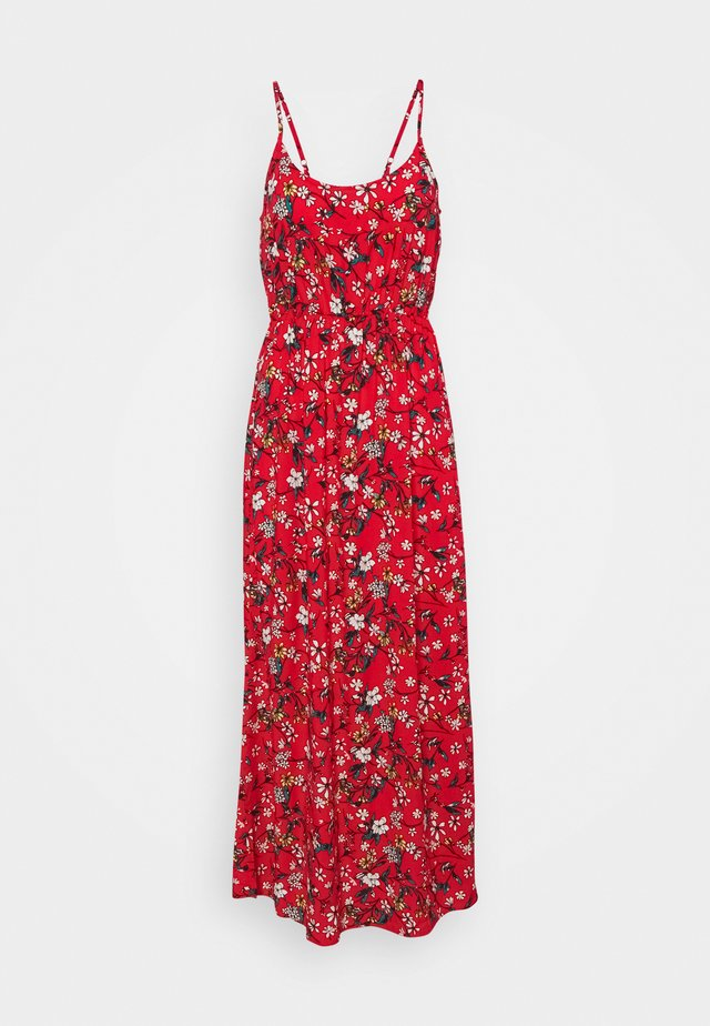 VMSIMPLY EASY SINGLET DRESS - Maxi-jurk - goji berry
