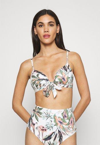 FIJI GLOBAL - Bikinitop - white/green