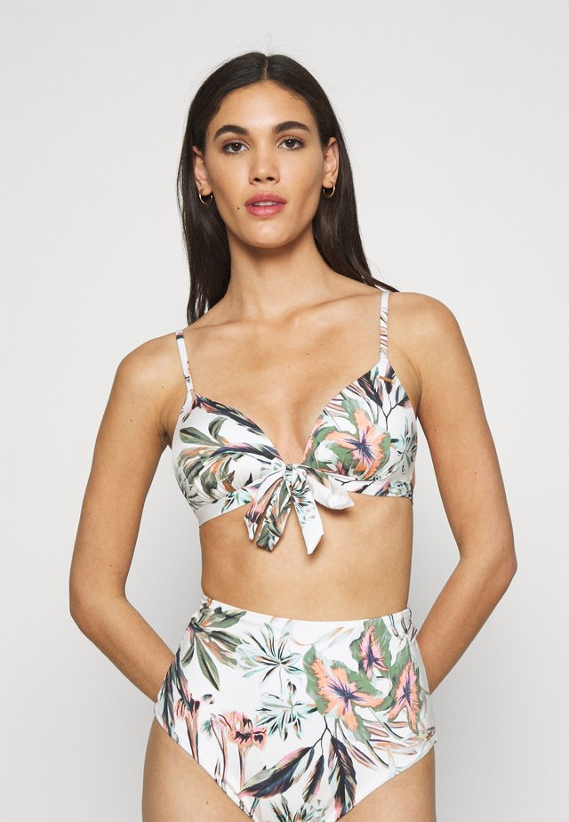 FIJI GLOBAL - Haut de bikini - white/green