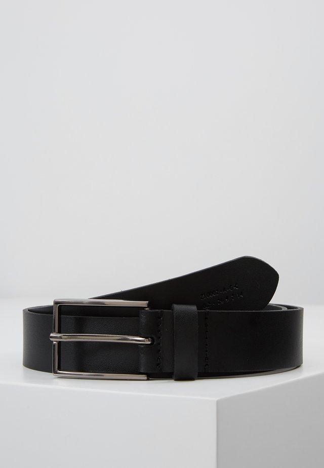 UNISEX LEATHER - Pásek - black