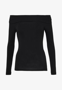 Vero Moda Petite - VMPANDA OFF SHOULDER TOP VIP  - Long sleeved top - black