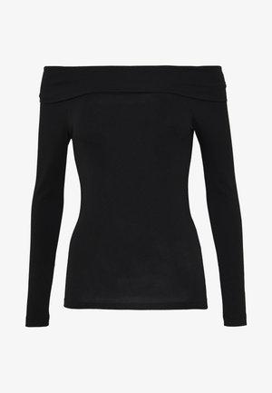 VMPANDA OFF SHOULDER TOP VIP  - Long sleeved top - black