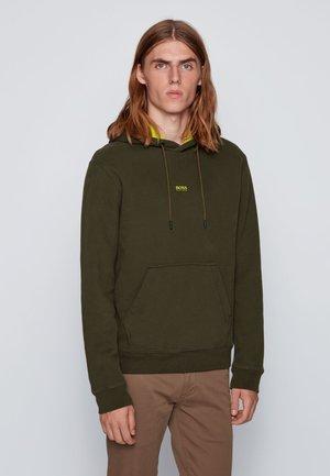 Hoodie - open green