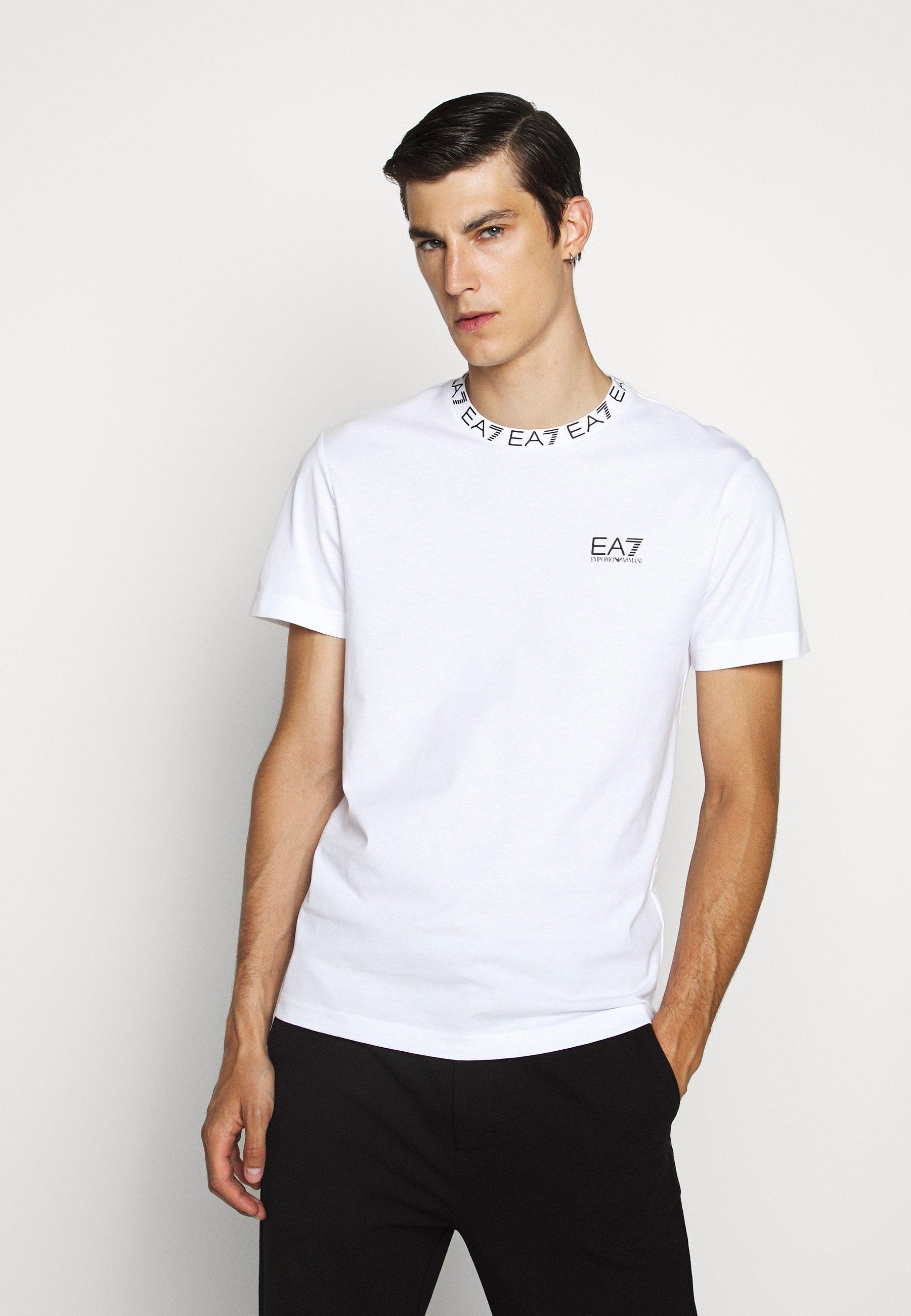 Men TEE COLLAR LOGO  - Print T-shirt