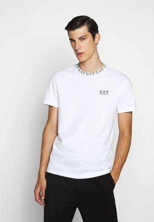TEE COLLAR LOGO  - Camiseta estampada - white
