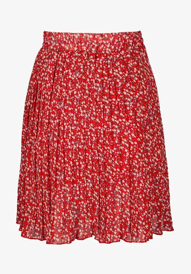 Veckad kjol - rouge