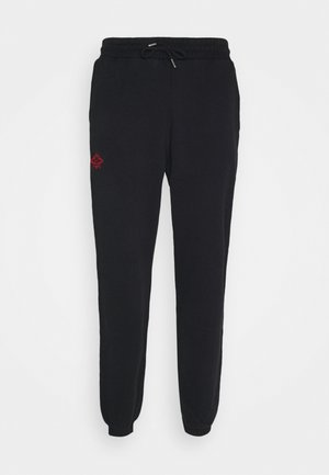Tracksuit bottoms - faded black/red