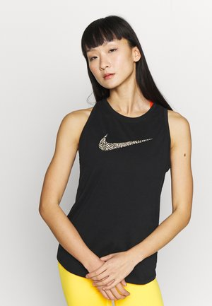 DRY TANK LEOPARD - Sports shirt - black