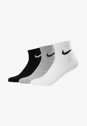 EVERYDAY CUSH 3 PACK - Calcetines de deporte - white black/dark grey heather black/black white