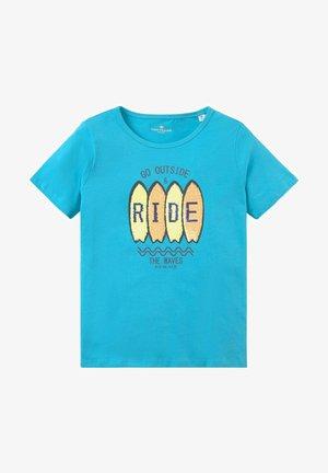 PRINT - Print T-shirt - vivid aqua cyan