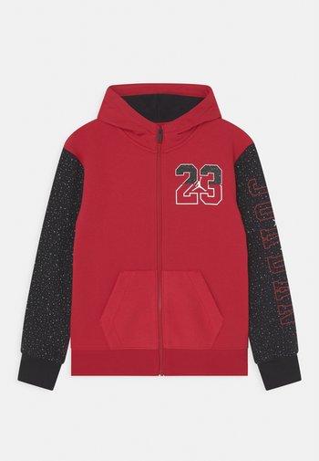 AIR SPECKLE - Felpa con zip - gym red