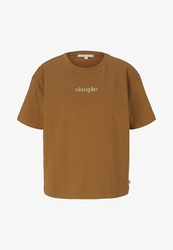 Basic T-shirt - soft camel