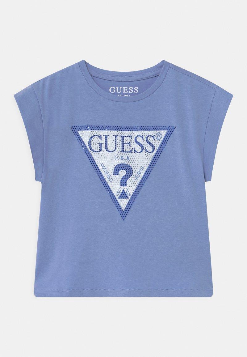 Guess - JUNIOR MIDI - Print T-shirt - confidential blue