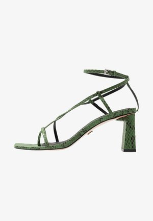 NICO HEEL - T-bar sandals - green