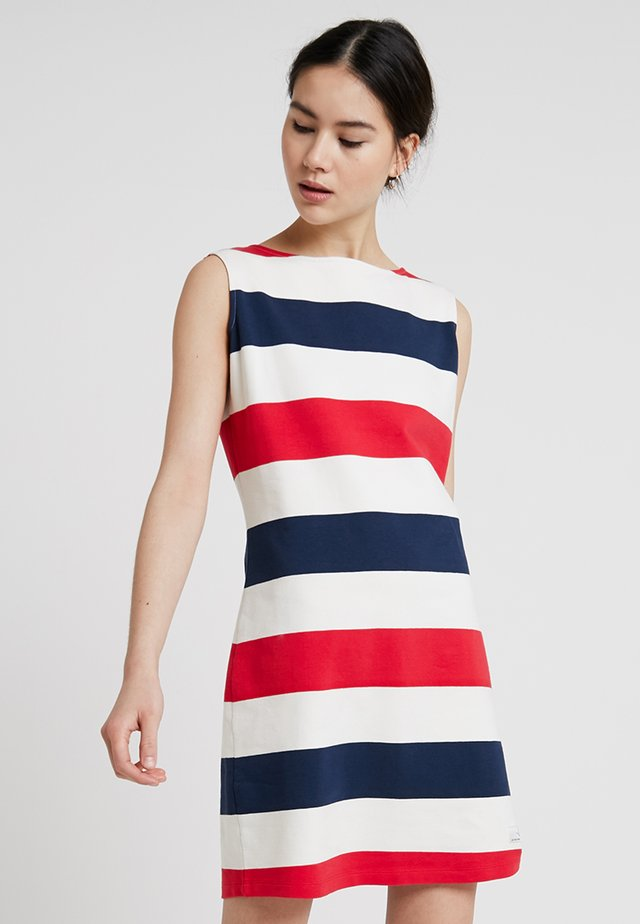 BRITTANY - Day dress - navy/pearl/true red