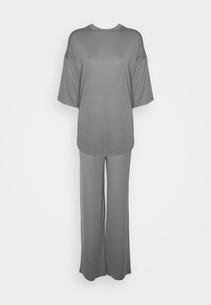WIDE LEG TROUSER SET - T-shirt basic - grey