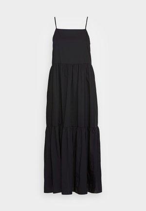 DRESS STRAPS TIRED - Day dress - black