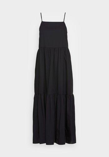 DRESS STRAPS TIRED - Denní šaty - black