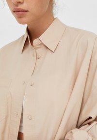 Stradivarius - Button-down blouse - stone - 3