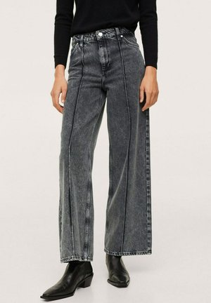 SEWING CULOTTE - Flared jeans - open grey