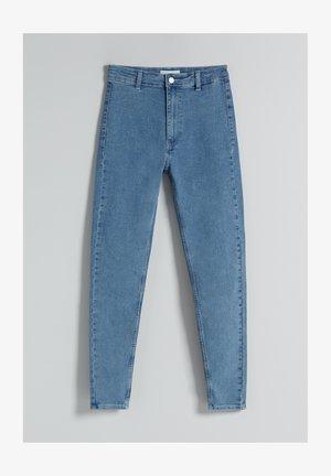 SUPER HIGH WAIST - Jeans slim fit - blue denim