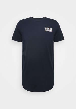 FLORAL LOGO - Print T-shirt - navy solid