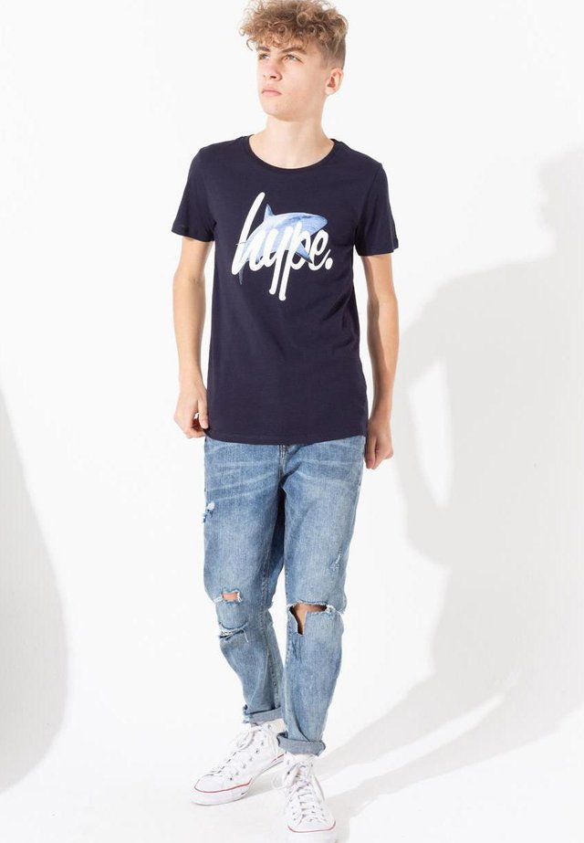 SHARK - Print T-shirt - blue