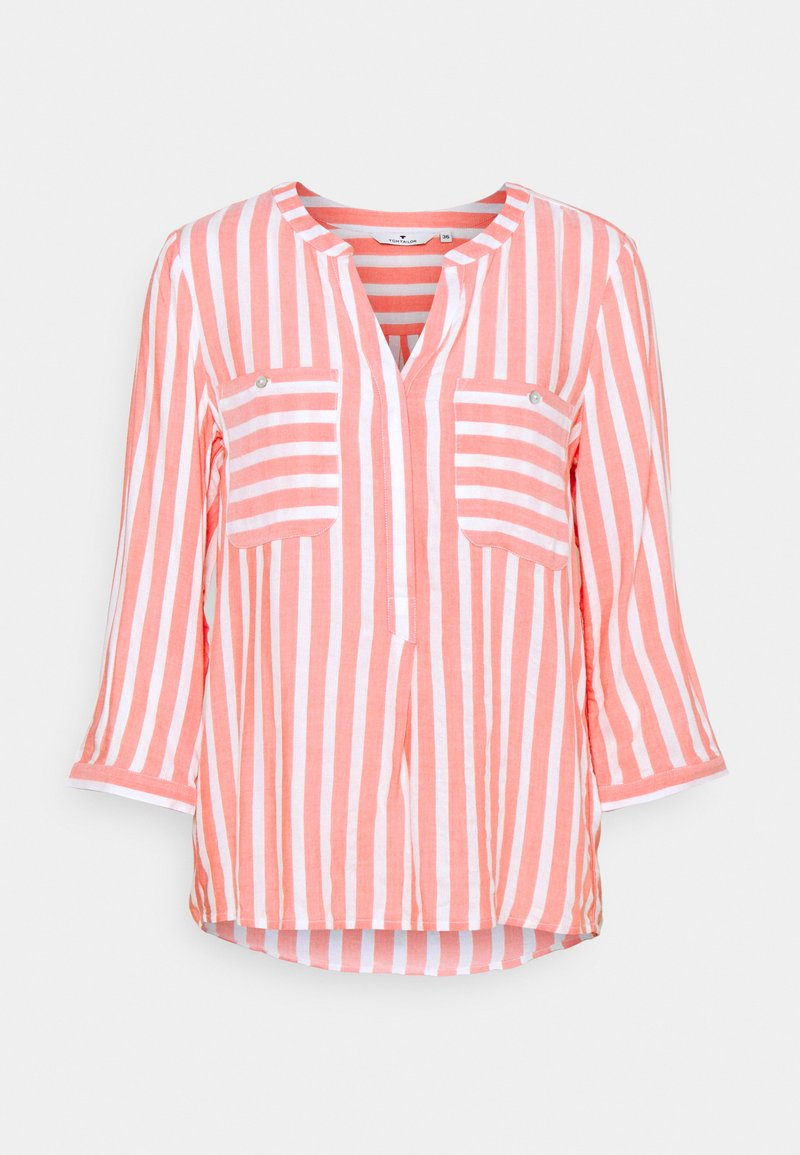 TOM TAILOR - Blouse - peach offwhite