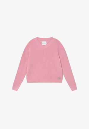 V NECK - Svetr - pink