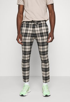 NEUTRAL CHECK - Stoffhose - stone