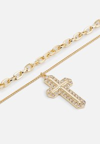 Uncommon Souls - MIX CHAIN CROSS  - Necklace - gold-coloured - 2