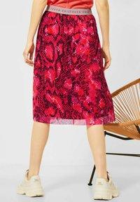 Street One - Pleated skirt - rot - 2